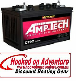 Battery Deep Cycle Amp-Tech D70Z Good Value Proven Brand 105 AH