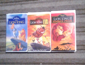 Lion King collections movies Walt Disney on VHS Excellent