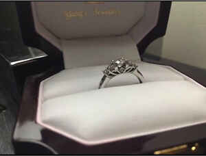 White gold engagement ring size 6.5