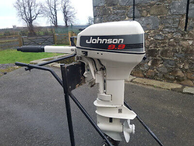 Used Johnson 9.9hp 2 Stroke Outboard Manual Start Short Shaft Tiller Engine