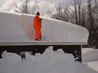 Rooftop snow removal guy