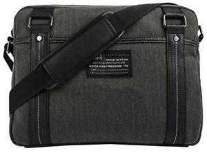 Buffalo BUF122902CA Robinson 15.6 Laptop Messenger Bag - Denim Black  (New Other)
