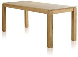 Oak FurnitureLand Galway 6ft Natural Solid Oak Dining table New