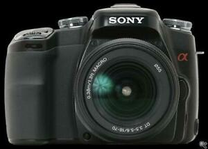SONY DSLR A100 camera with 18-70mm lens SUPERB
