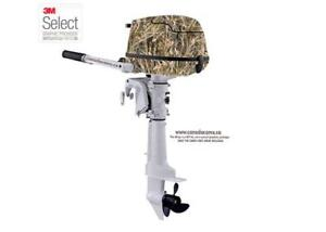 CAMO MEDIUM OUTBOARD BOAT WRAP KIT