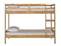 Single bunk bed with 2 mattresses
