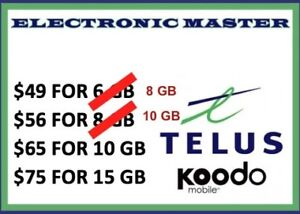 CHEAP PHONE PLANS AVAILABLE ROGERS FIDO TELUS KOODO BELL VIRGIN