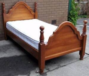 king single solid timber frame bed and mattress Glen Waverley Monash Area Preview