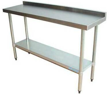 Narrow Bench with Splashback - Stainless Steel Northgate Brisbane North East Preview