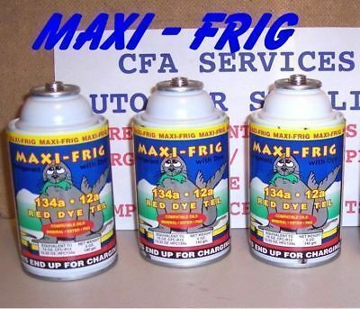 ( R12 SYSTEMS COMPATIBLE MAXI FRIG 12a / 3 CANS=3.3lb REFRIGERANT 12/1994 & OLDER)
