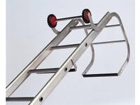 17 rung single section roof ladder with ridge hook