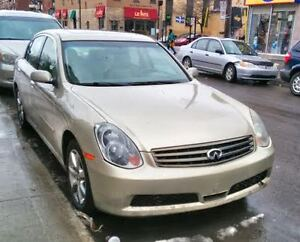 Infiniti G35x 2005 sedan part out - ships from Montreal