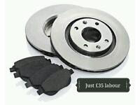 Smart brake discs and pads fitted £35