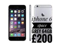 iPhone 6 64gb space grey unlocked working