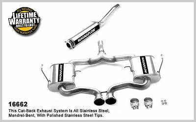 Mini Cooper Performance Exhaust - 2004 2005 2006 Mini Cooper S 1.6 MagnaFlow Stainless Performance Exhaust NEW!