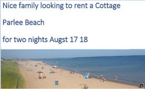 Looking to book cottage in Shediac/Parlee Beach