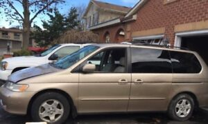 2000 Honda Odyssey sold as is