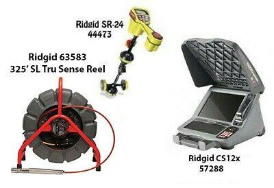 Ridgid 325 Color Sl Tru Sense Reel 63583 Seektech Sr-24 44473 Cs12x 57288