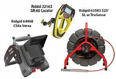 Ridgid 325 Color Sl Reel Wts 63583 Seektech Sr-60 22163 Cs6x Versa64968