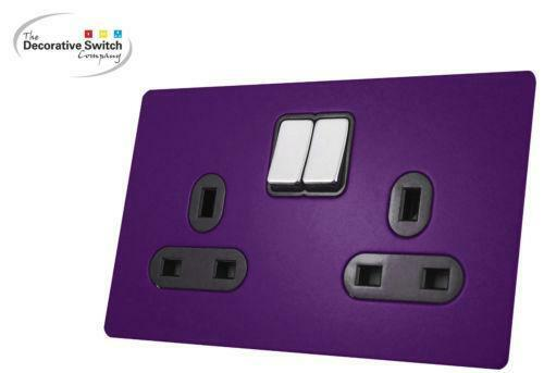 Coloured Plug Sockets Electrical Fittings Ebay