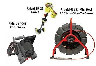 Ridgid 200 Mini Reel Nonsl Wts 63633 Seektech Sr-24 44473 Cs6xversa64968