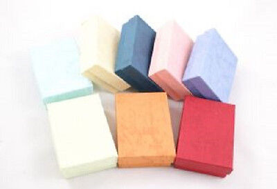 New 50 Small Assorted Color Cotton Filled Jewelry Ring Earring Gift Boxes 178