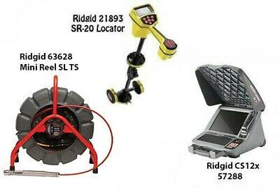 Ridgid 200 Mini Reel Sl Ts 63628 Seektech Sr-20 Locator 21893 Cs12x 57288