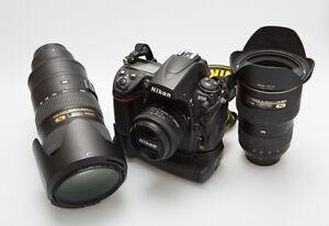 Complete Nikon D 700 professional gear