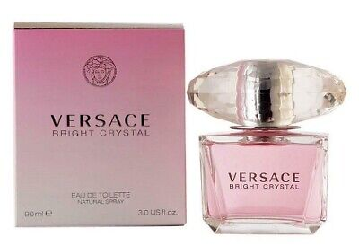 Versace Bright Crystal by Gianni Versace 3.0 oz EDT Perfume for Women New In Box