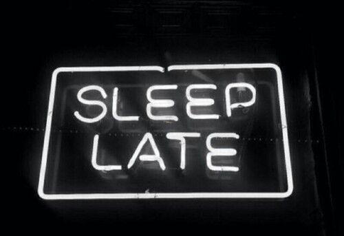 New Sleep Late White Neon Sign Wall Decor Artwork Light Lamp