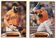 2012 Topps Giants Team Set