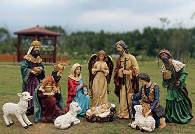 97000 12 Piece Outdoor Nativity Set, Multicolored