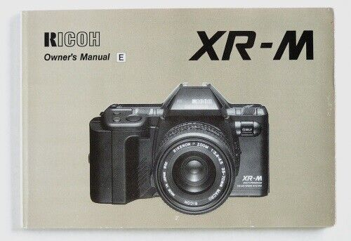 Ricoh XR-M Instruction Manual in English
