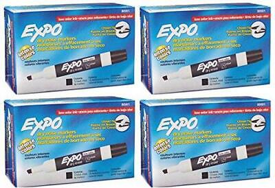 Expo 80001 Low Odor Chisel Point Dry Erase Markers Black 12 Units Per Box