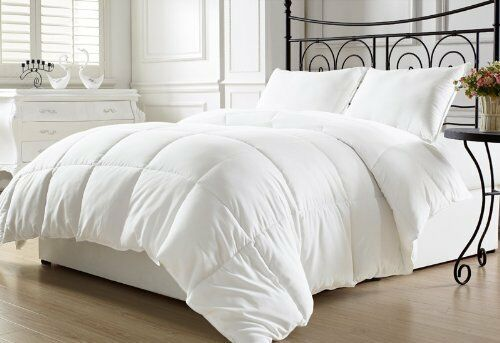 NEW White Down Comforter Duvet Insert Quilted Queen Bed Room