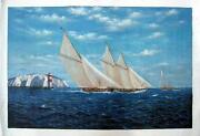 Tall SHIP Oil Painting