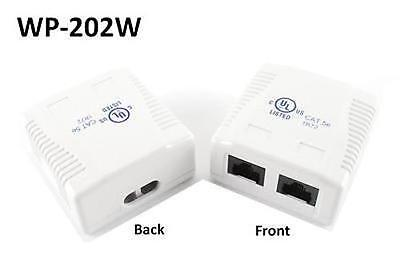 2-Port Cat5e Surface Mount Box with 110 Type RJ45 Jacks, CablesOnline WP-202W