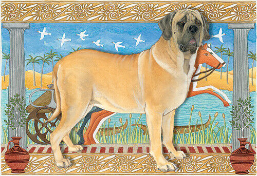 Mastiff Blank Note Cards Boxed