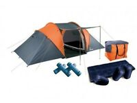 4 Man Tent Pack (4 sleeping mats, 4 sleeping bags in carry bag)