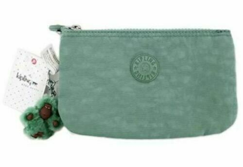 kipling Basic New Money Medium Wallet Geldbörse Soft Feather Blau Weiß Neu