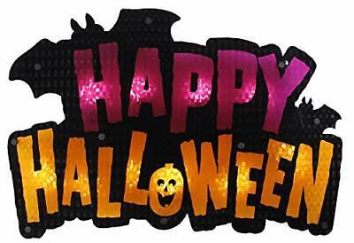 Halloween Lighted Window Decoration | Light-Up Happy Halloween Sign | Indoor ...
