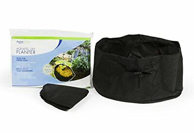 Aquatic Lily Plant Pots for Pond and Water Garden 14-inch x 7-inch Black 2 Pack