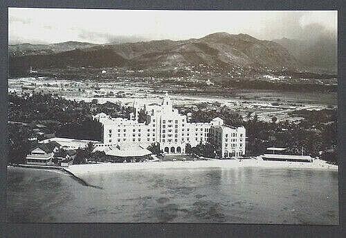 "ROYAL HAWAIIAN HOTEL WAIKIKI AERIAL 12 X 18"" PHOTO ON CRYSTALL ARCHIVE PAPER"