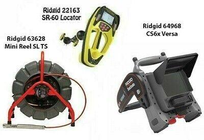 Ridgid 200 Minireel Sl Wts 63628 Seektech Sr-60 22163 Cs6x Versa 64968