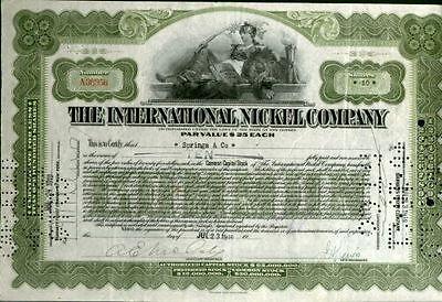 International Nickel Co., 1910er, oliv
