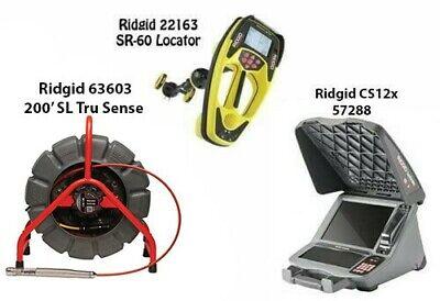Ridgid 200 Sl Ts Color Reel 63603 Seektech Sr-60 Locator 22163 Cs12x57288