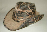 Full Shadey Hat - Seagrass with camoflage cover *new with tags*