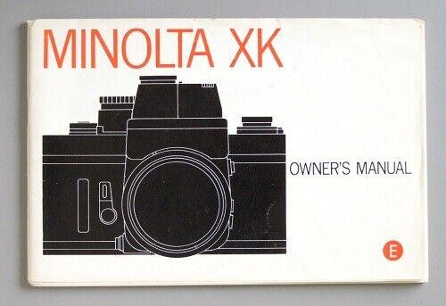 Minolta XK Instruction Manual