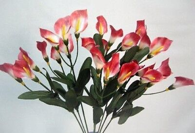 27 Mini Calla Lilies MAUVE Silk Wedding Bouquet Centerpieces Artificial Flowers (Calla Lilies Silk Flowers)