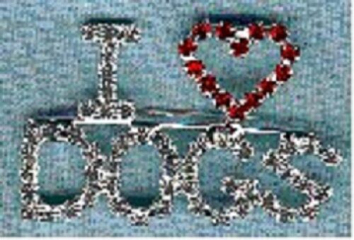 I (heart) Dogs Pin Brooch with Austrian Crystals Love Corgi Pug Terrier Setter f